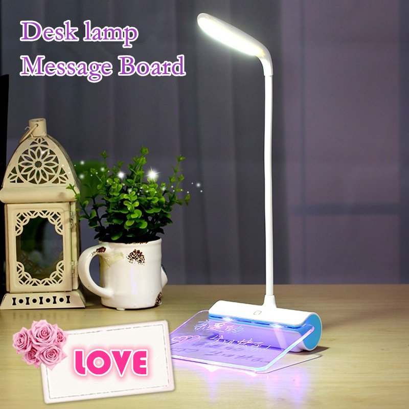 Originality 3-in-1 USB Rechargeable Message Board LED desk lamp night light Touch table lamp Flexible Arbitrary bending read(China (Mainland))