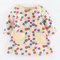 kids floral print dress girls clothing for autumn winter tops clothes pony wholesale children long presses
