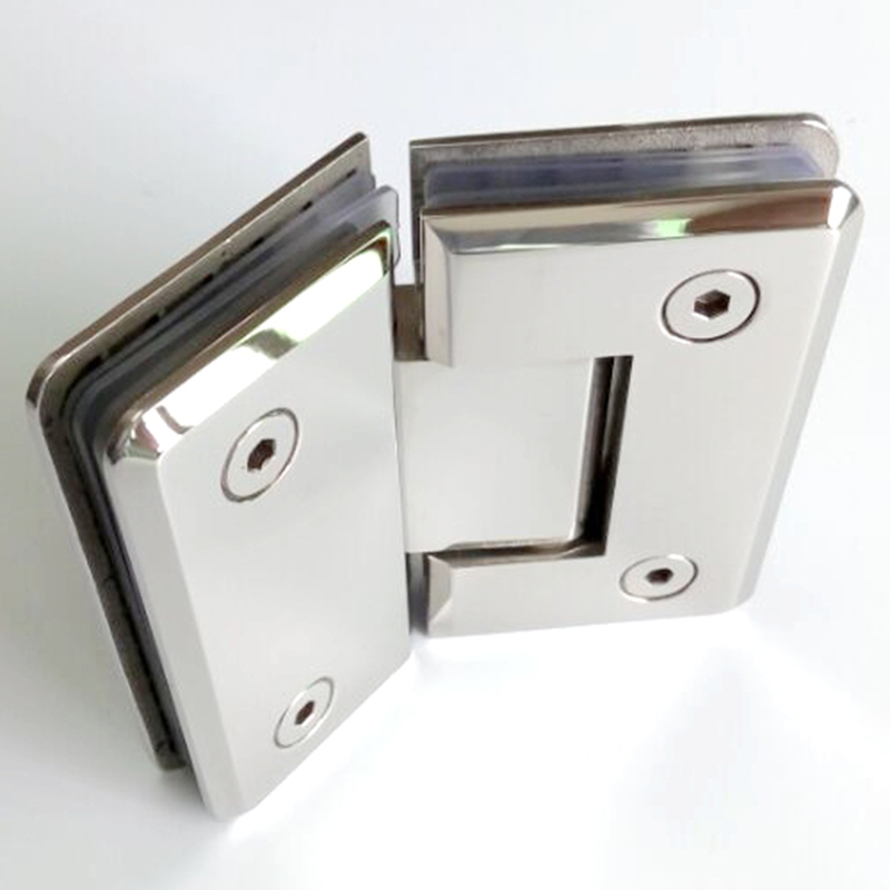 135 Degree Shower Door Hinge Glass Clamp 304 Stainless Steel Spring Hinges Door Clip For Bathroom 6~12mm Thick Glass HM81(China (Mainland))