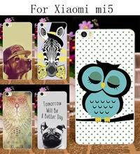 Hard Plastic Phone Cases Xiaomi m5 Mi5 Mi 5 Case DIY Back Protection Shell Cover Tiger Harajuku Painted patterns - TAOYUNXI 3C Products Mall store