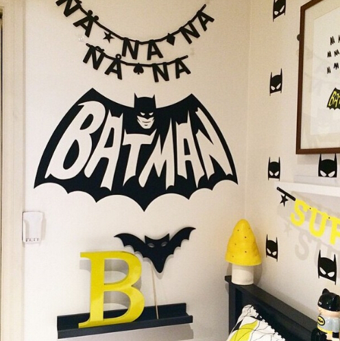 Cool Batman pattern kids room Wall Sticker Easily Removable PVC environmental protect material safe for baby bedroom decorat(China (Mainland))