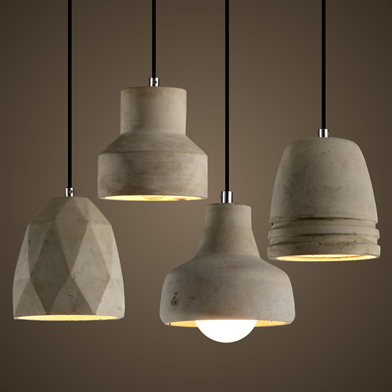 European Loft Style Cement Restaurant Bar Living Room E27 Pendant Light Art H