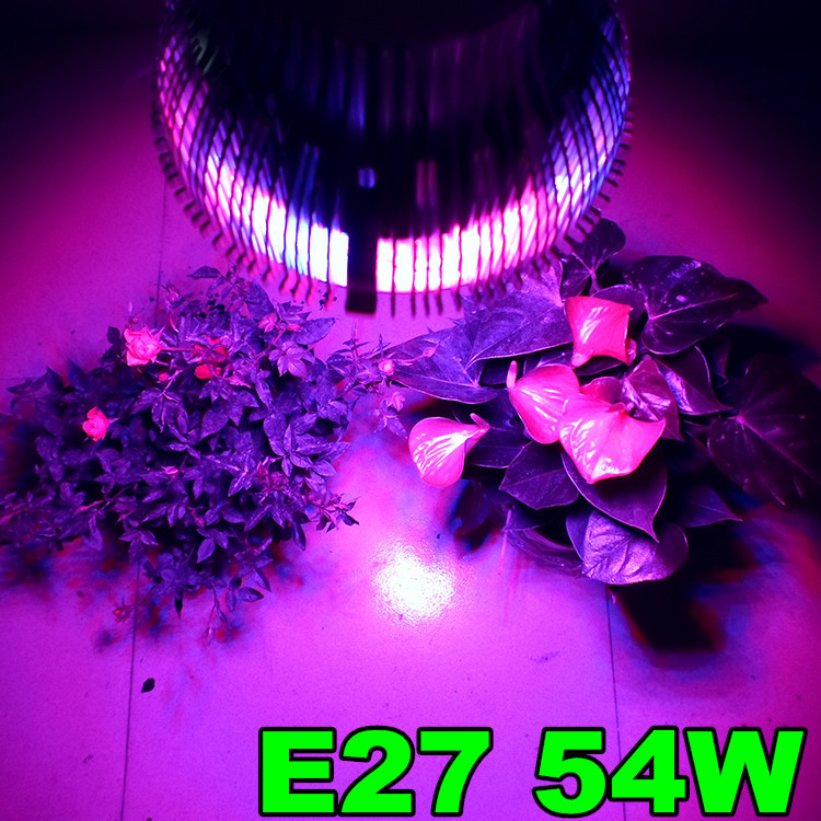 1X Wholesale Led Plant light 54W E27 Led Hydroponic Plant Flowers Vegatables Green Led Grow Lights Plant Growing Lamp(China (Mainland))