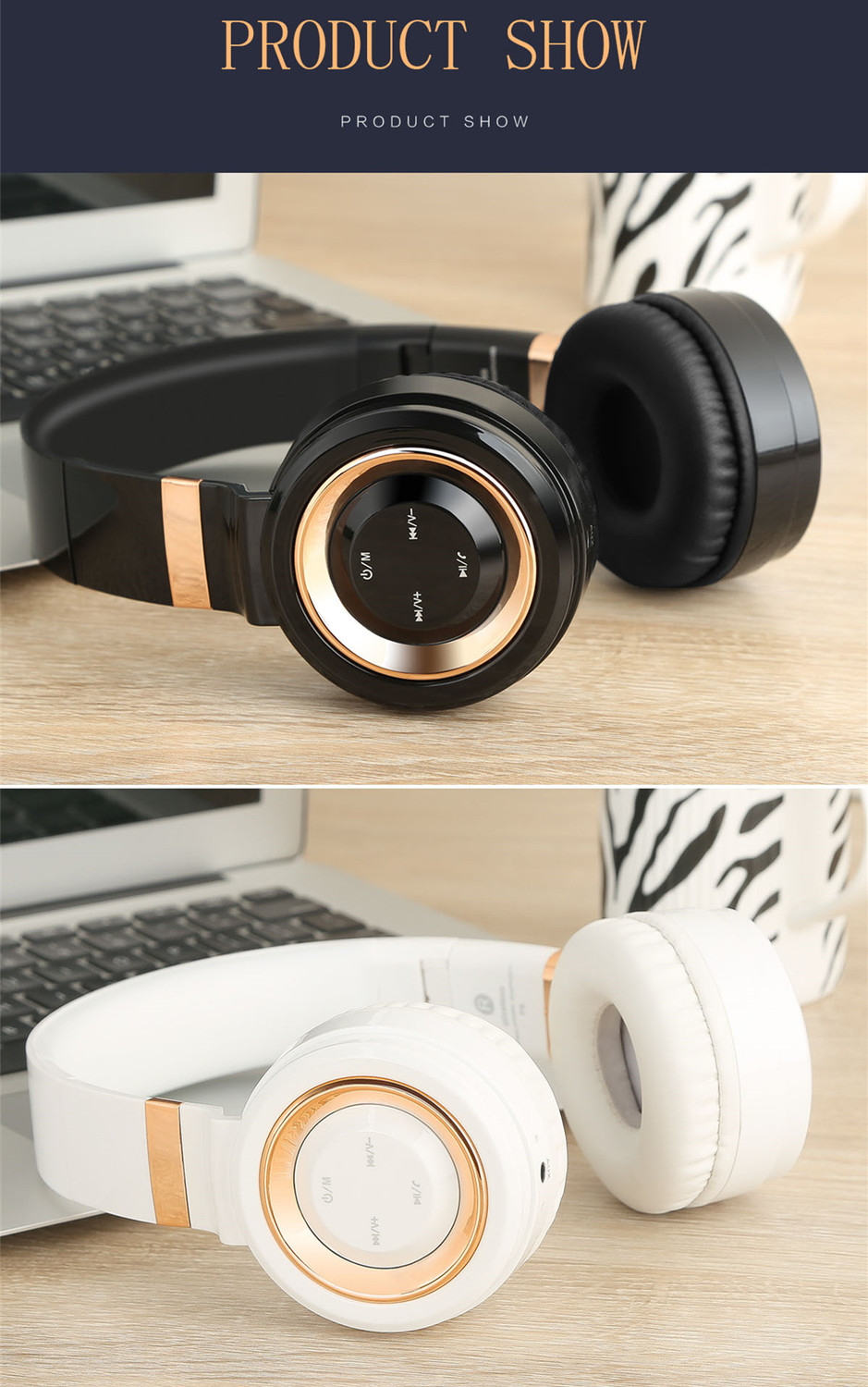 Sound Intone P6S Bluetooth Headphones Stereo Bass Headset Earphone With Mic. FM Radio TF Card MP3 Auriculares For Xiaomi PC