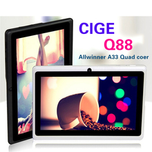 Big discount!!7 inch tablet Quad Core Q88 Allwinner A33 tablet Dual Camera Android 4.4.2 512MB/8GB tablet pc HOT(China (Mainland))