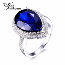 Luxury 7ct Sapphire Ring Women Classic Water Drop Cut Solid 925 Sterling Silver Wedding Set Hot Bijouterie For Lovers Brand New(China (Mainland))