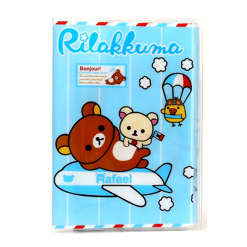 Top Quality Fashion 3D Passport Cover Holder Cartoon Rilakkuma PVC Travel Card Passport Holder Case ID Holders 14*9.6cm(China (Mainland))
