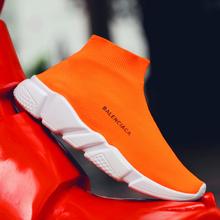 SHANTA Vrouwen Sok Laarzen 2019 Nieuwe Stretch Stof Schoenen Slip On Over de Knie Laarzen Vrouwen Pompen Laarzen Voor Vrouwen(China)