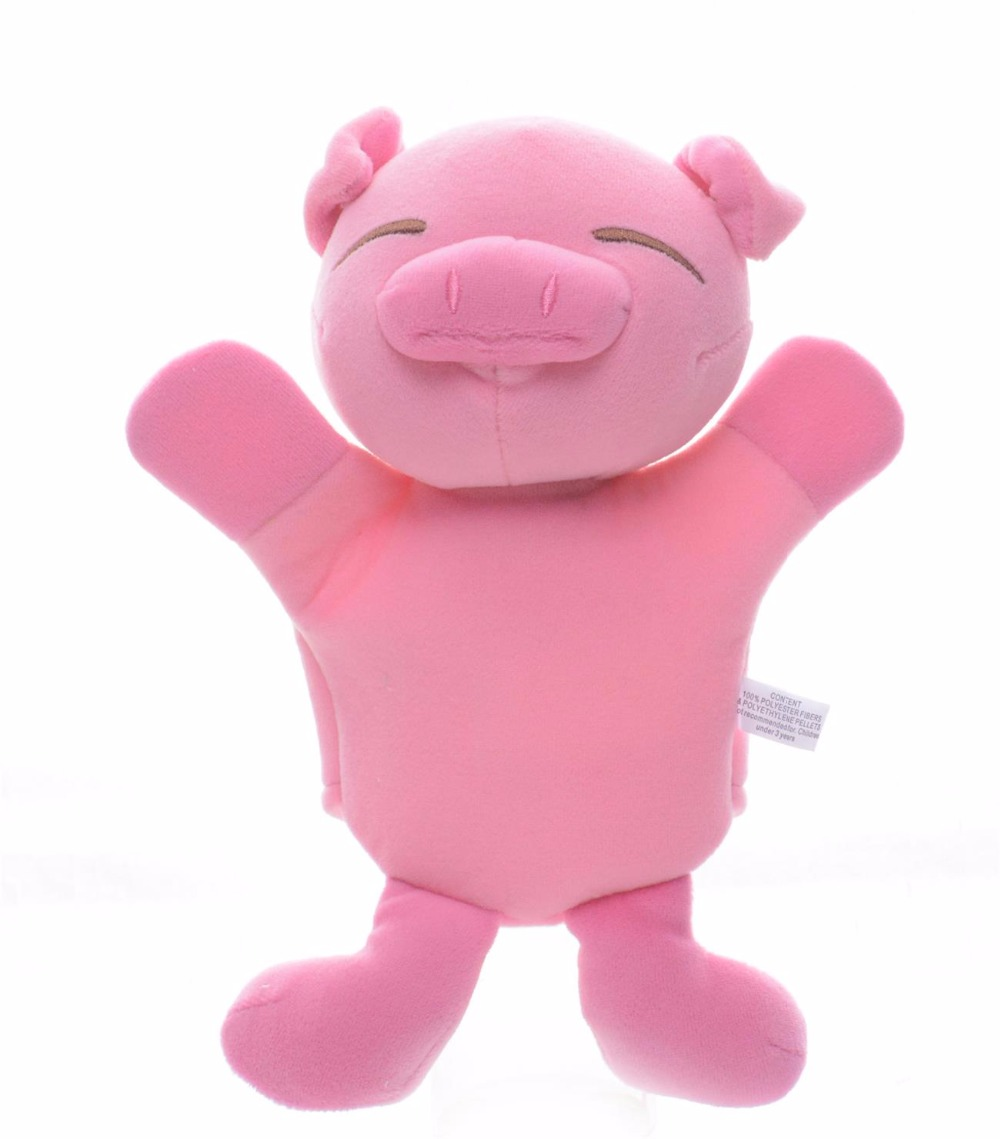 Cute Soft Metoo Hand Puppets Plush Pink Cartoon Pig Baby Developmental Hand Puppet for Kids Bet Gifts for Kids 12*8'' #LN(China (Mainland))