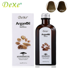 150ml Dexe Pure Natural Morocco Argan Oil Hair Care For Dry And Maintenance Hair Nutrition Essential Oil For Hair Straightening(China (Mainland))