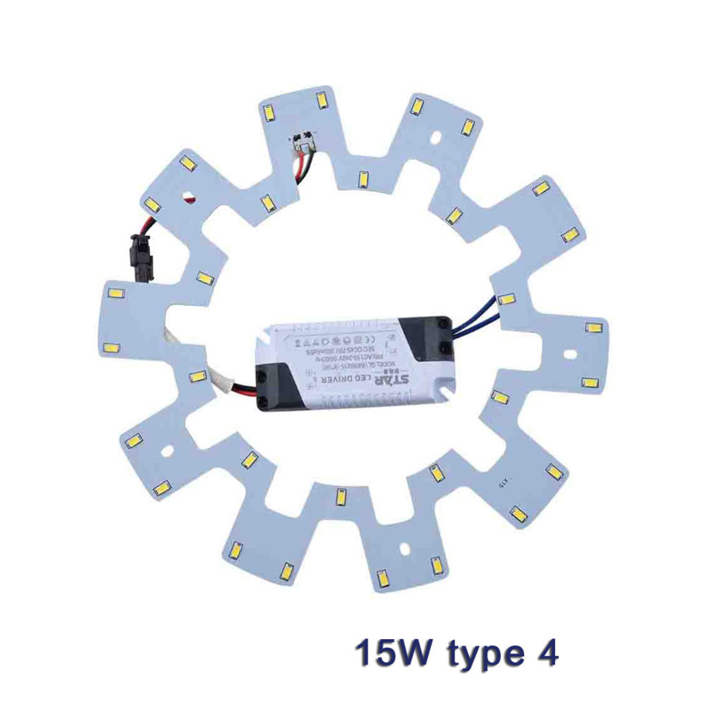 LED Ceiling Lights DIY 7W 10W 15W 20W 5730 LED Panel Light Fluorescent Lamp Replacement Ring PCB Board Parts Kit + Driver Magnet(China (Mainland))