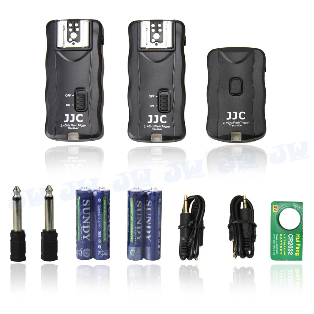 JJC JF-G2 Wireless Flash Trigger Remote 1Transmitter 2Receiver 2.4GHz 16 channel For Vivitar Metz Phoenix Flashgun studio lights(China (Mainland))