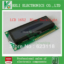 Free shipping 10PCS lcd 1602 blue screen Character LCD Display Module Blue Blacklight New 16X2