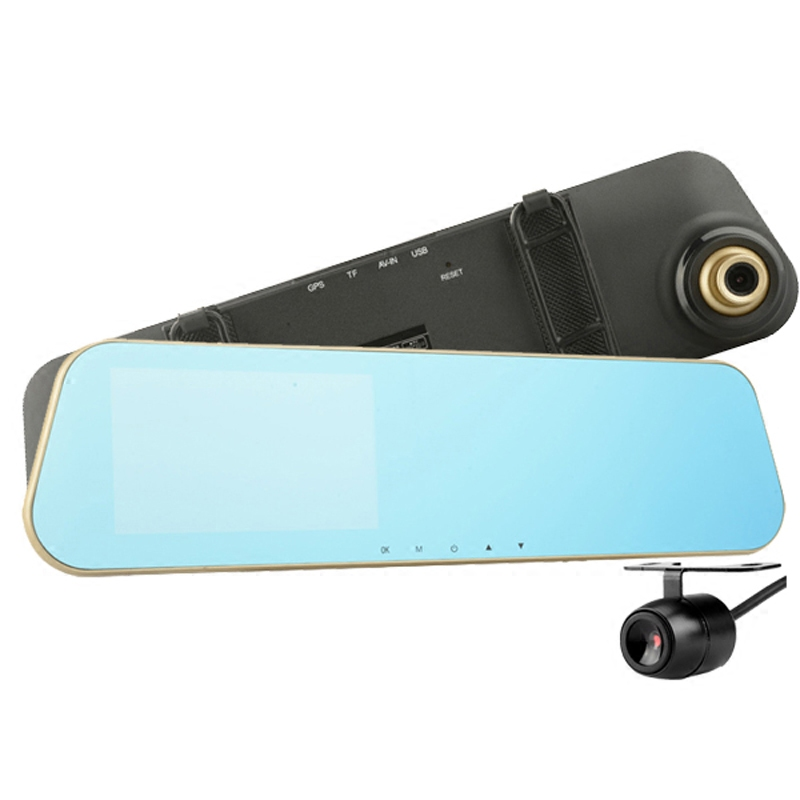 Mirror tachograph dual Rearview lens 1080P 24V truck meters 15 reverse image anti pengci(China (Mainland))