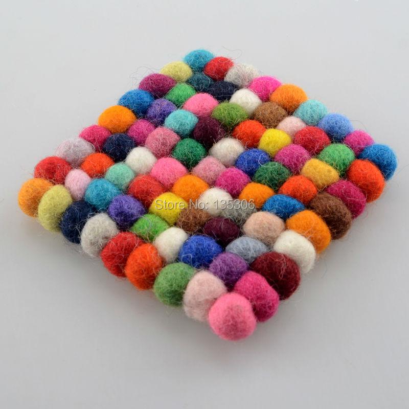 1pc Handmade Wool Felt Ball Trivet Table Heat Resistant  : 1pc Handmade Wool Felt Ball Trivet Table Heat Resistant Mat Cup Coaster from www.aliexpress.com size 800 x 800 jpeg 93kB
