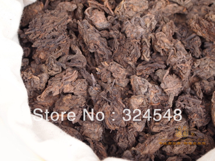 100G Mellow Taste old year MengHai LaoCha Tou loose puer tea Ripe Puerh Tea Free Shipping