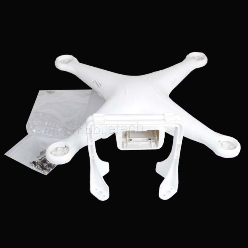 Replacement Body Shell for DJI Phantom 2 and Phantom 3 Quadcopter spare parts DJI upper lower cover plus landing gear and screw
