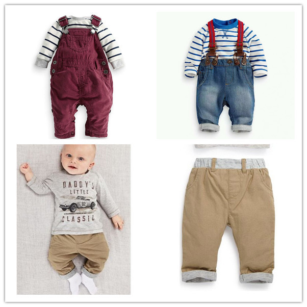baby boy cotton clothing set baby baby clothing carters car t-shirt+Leisure pants Overalls clothing set(China (Mainland))