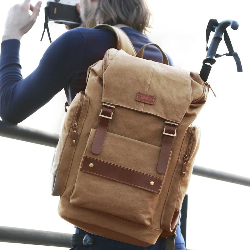 2016 nice quality vintage canvas backpacks for boys external frame backpack online large backpacks hiking packs(China (Mainland))