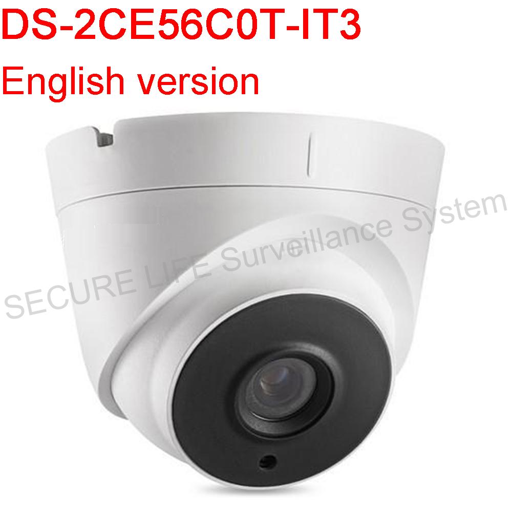 Фотография English Version DS-2CE56C0T-IT3 HD720P EXIR Turret Camera 1.0 Megapixel high-performance CMOS IP66 weatherproof