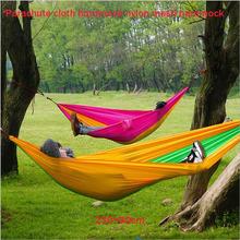 Outdoor hammock wholesale parachute nylon mesh cloth hammock hammock A single outdoor camping leisure products