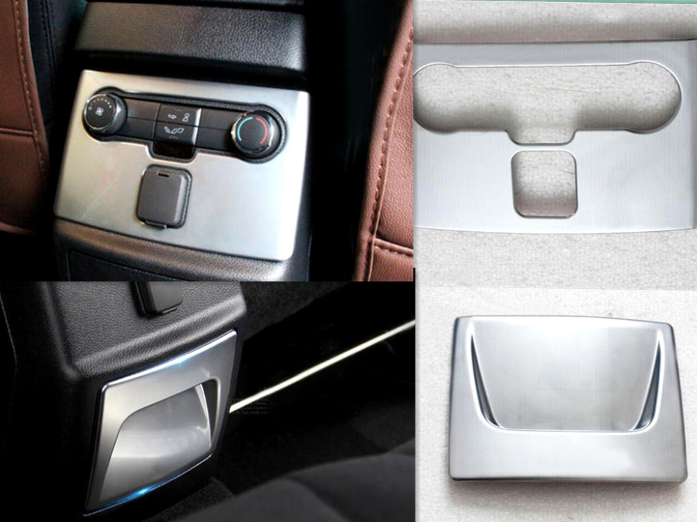 Chrome Matte Console Rear Seat AC Vent Conditioning Switch Cover Trim Ford Explore 2016(China (Mainland))