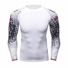 Buy Men Compression Shirts MMA Rashguard Keep Fit Fitness Long Sleeves Base Layer Skin Tight Weight Lifting Elastic T Shirts Homme for $8.50 in AliExpress store