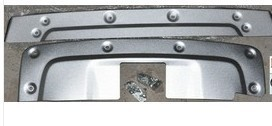 ALUMINUM FRONT AND  REAR SKID PLATE  PROTECTOR COVER BUMPER COVER FOR HONDA CRV  10-11 FREE DELIVERY BY FEDEX