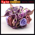Big Rose String Flower Hair Bands for Women Girls Satin Elastic Rope Hair Clips Ponytail Lace
