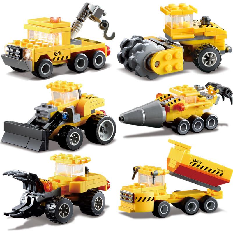 Kazi Engineering Truck Car Building Blocks Bricks Construction Enlighten Toys For Children Birhthday Gift Legoelieds City(China (Mainland))