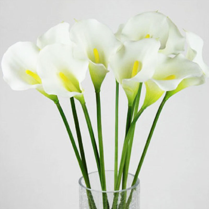 Hot Sale Calla Lily Bridal Wedding Bouquet head Latex Real Touch Artificial Flower Decor #50984(China (Mainland))