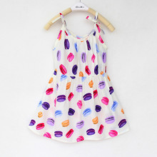 2016 New Floral Dress Girlsd Children Suspenders Summer Chiffon Dresses Girl Dress Party Children's Clothing Baby Clothes