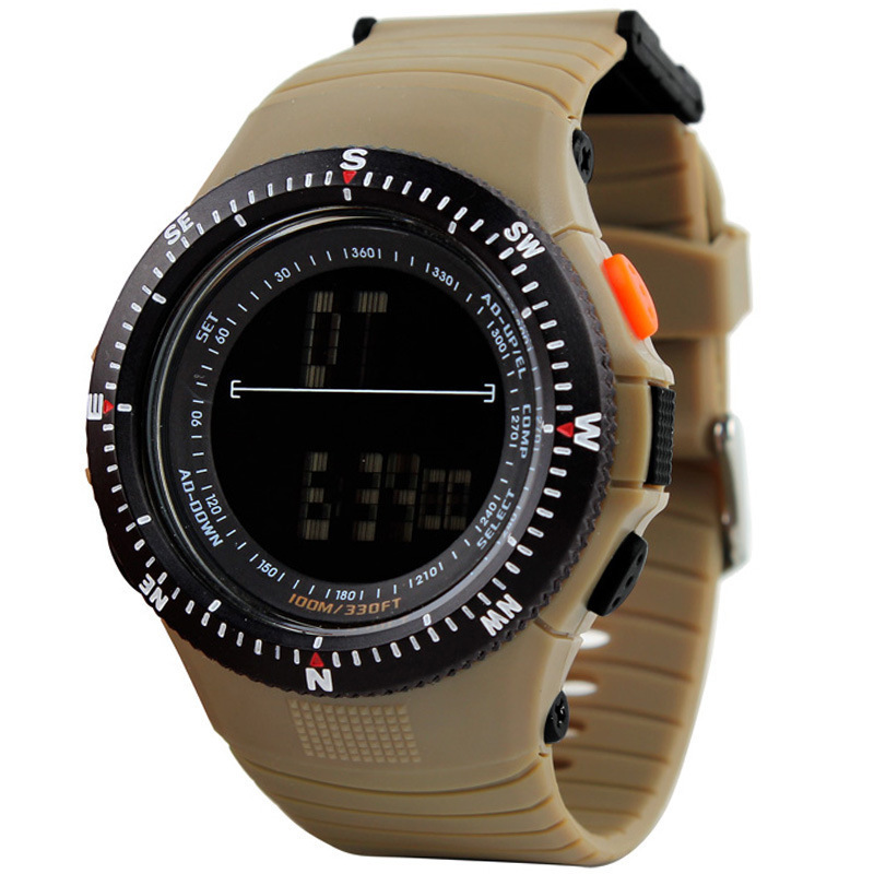DHL free shipping 30pcs/lot Skmei 0989 5ATM Water Resistant Digital Sports Mens Watch EL back Light with Soft Plastic Strap(China (Mainland))