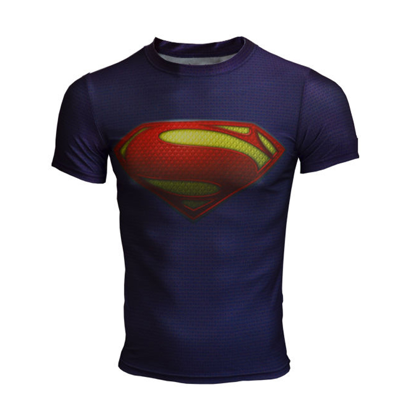 summer style Plus Size Casual Men t shirt Short Sleeve 3d superman/batman quick dry men's Tops & Tees sports Drop Shipping 133(China (Mainland))