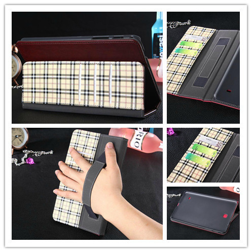 20PC/LOT, Tab4 Magnet Case For Samsung Galaxy Tab 4 8.0 T330 T331 Wallet Book Cover Case with card slot and hand holder,10 Color<br><br>Aliexpress