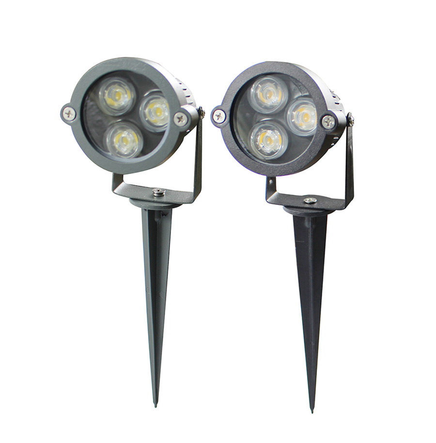 Bright cast aluminum 3w waterproof ip65 led outdoor for Outdoor yard light fixtures