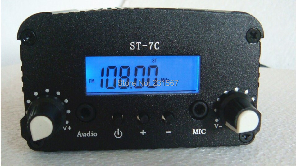 New arrival! 7W FM Stereo broadcast radio FM transmitter for radio station ,Frequency range: 76 ~ 108Mhz(China (Mainland))
