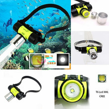 1800Lm XM-L CREE T6 LED Swimming diving Headlamp Waterproof underwater Headlight Dive Head Light flashlight Head torch