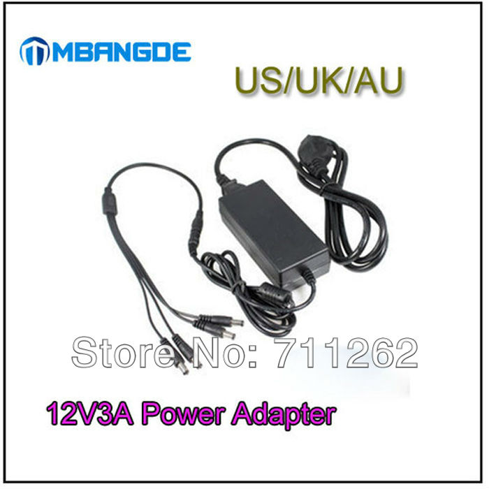 Free shipping!12V3A DC Power Supply Adapter 1 to 4 Splitter Cable for CCTV Security DVR Camera<br><br>Aliexpress