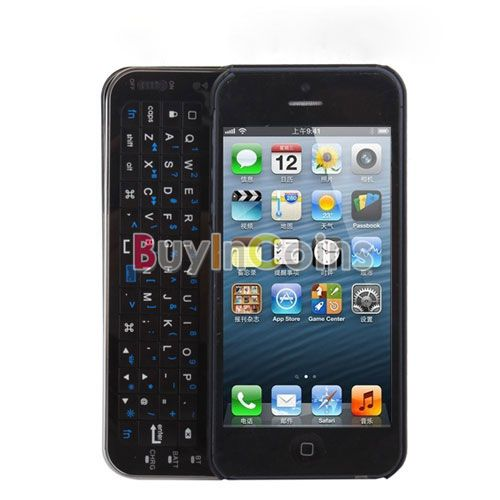 New Sliding Bluetooth Wireless Keyboard Case Cover for Apple for iPhone 5 5th Five US AS #24089(China (Mainland))