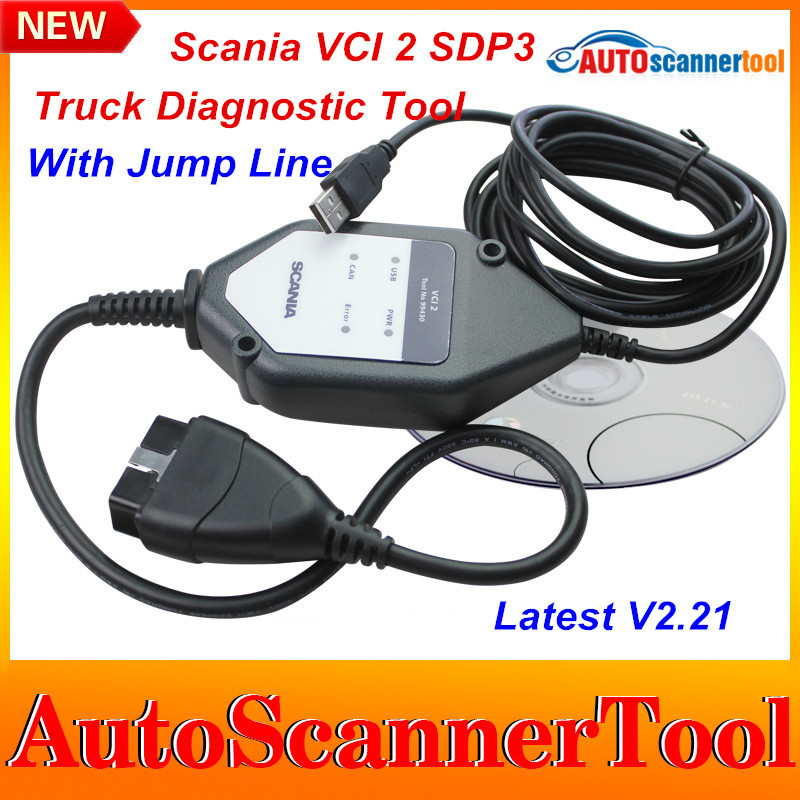 DHL Free Shipping 2015 Best Selling Scania VCI 2 SDP3 Multi-languages Truck Diagnostic Tool Scania VCI2 V2.21 With Carton Box(China (Mainland))
