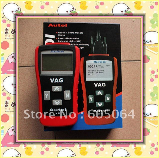 MaxScan VAG 405 Code Reader OBD II EOBD CAN BUS for VW Audi+warranty one year+free shipping(Hong Kong)