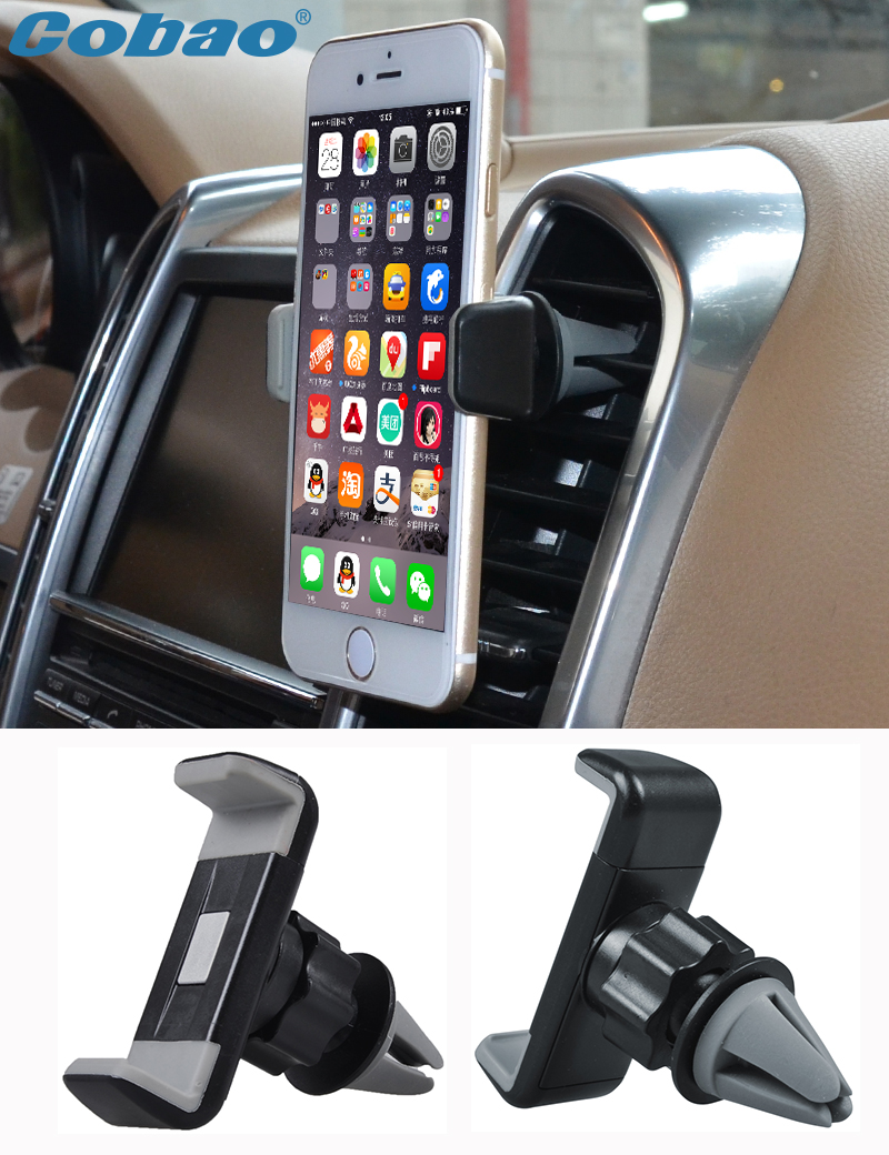 Universal car mobile phone holder 360 rotating air vent mount holder stand for smartphone iphone 4s 5 5s 6 6s plus Galaxy s5 s6(China (Mainland))