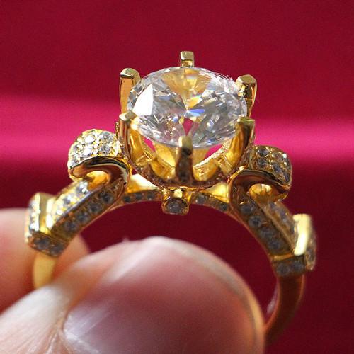 24k wedding rings