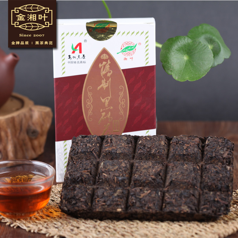 [Leaf] Jin Xiang refined dark chocolate chocolate refining Yiyang black tea brick 200g priced at direct(China (Mainland))
