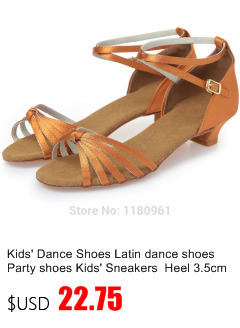 Manufacturers selling children's girls silver PU side with Latin dancing shoes L24 jazz shoes square