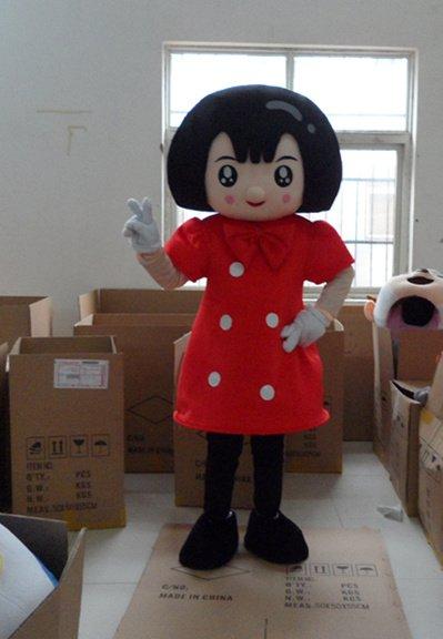 Оптовая БЕСПЛАТНАЯ ДОСТАВКА красное платье девочка плюша персонажа из мультфильма костюм талисмана косплей на заказ подгонянные продукты
