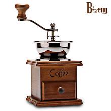 Bm-132a beng кофейных зерен кофемолка бытовая руководство рук ретро доставка древесины мельница
