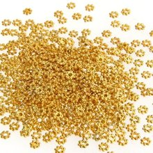 Special Sale !500X Gold Tone Daisy Flower Spacer Beads(China (Mainland))