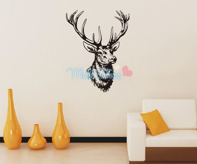 2016 for wall cartoon new promotion deer wall stickers - Decoration stickers muraux adhesif ...